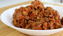 Pork Sausage with Lentils